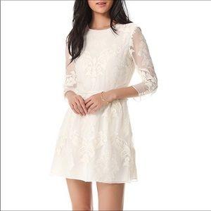 Dolce Vita Valentina silk lace embroidered dress